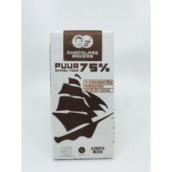 Chocolat noir 75% Cacao (éclats de fèves)