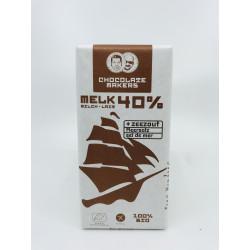 Tablette Chocolat lait 40% cacao (pointes de sel marin)