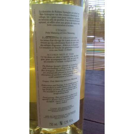 Vin Rubens Splengler  IGP Cote de Gascogne - Cuvée Les Terrasses 2016