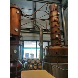 RUMSKY - hybride Rhum & Whisky (jus d'orge & mélasse de canne à sucre bio en longue fermentation, distillé brut de fût))